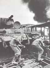 German assault on a Russian railway station