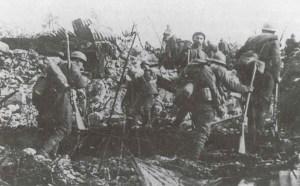 Italian infantry during an assault
