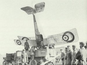 crashed Nieuport fighter