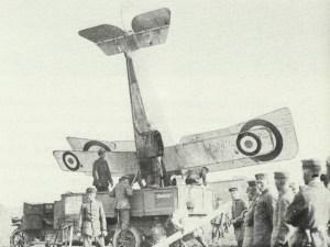crashed Nieuport fighter