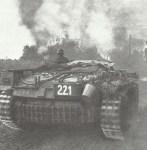 StuG in village combat