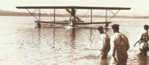 Italian seaplane returns to its base