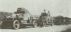 Royal Navy Lanchester armoured cars in Russia