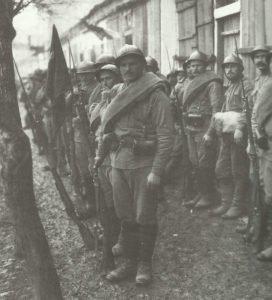 Russian soldiers  in front of Monastir