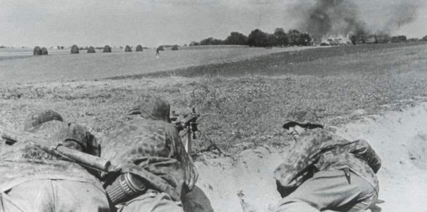 Waffen-SS troops in action
