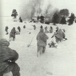 Russian infantry in winter camouflage