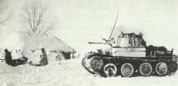 PzKpfw 38 (t) and a 2-cm Flak anti-aircraft gun on the Eastern front