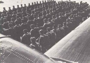 Soldiers of the Russian IX air landing corps