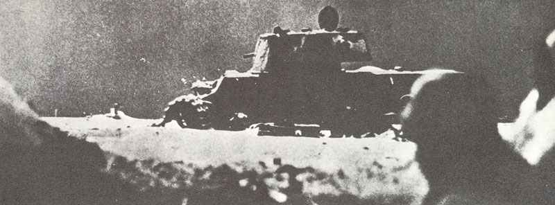 Knocked-out Russian KV-1 tank