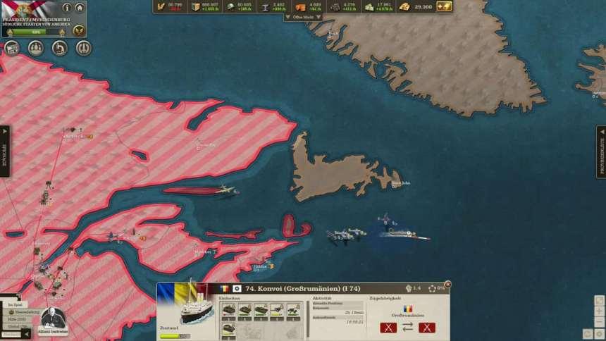 Destruction of an unescorted Romanian invasion fleet