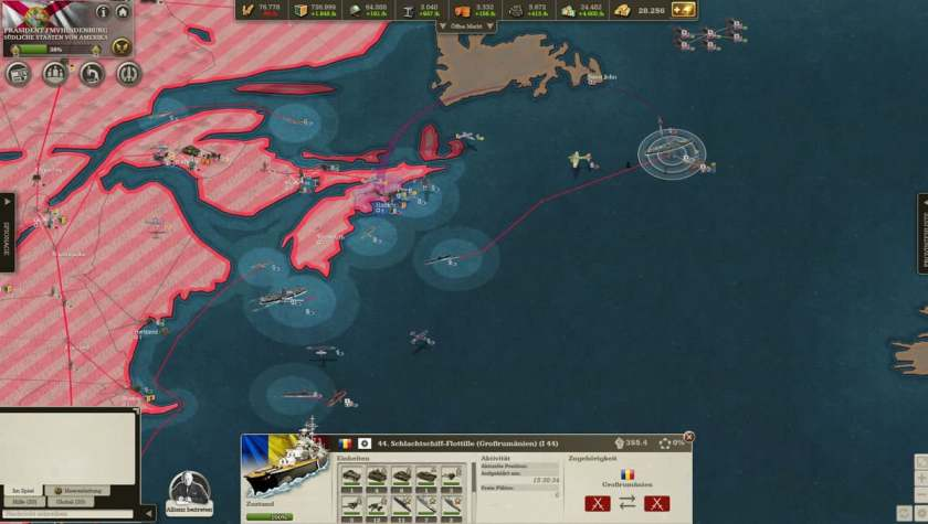 Two nuclear missiles fired on the gigantic fleet and invasion units.