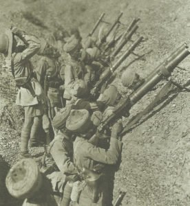Indian soldiers with Lewis machine guns