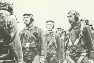 Japanese aircraft crews during the last briefing
