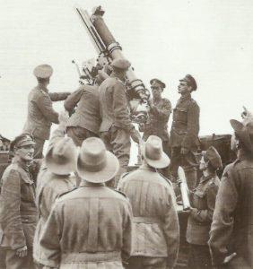 British 13-Pounder anti-aircraft gun.