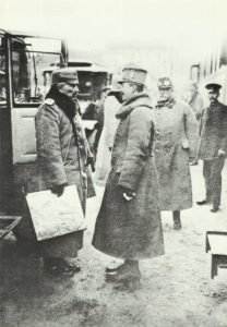 Kaiser Wilhelm II of Germany (left) and Emperor Charles I of Austria-Hungary (right)