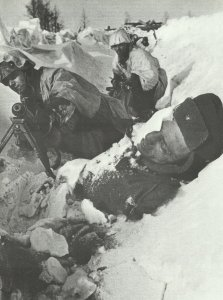 German counter-attack in the trenches