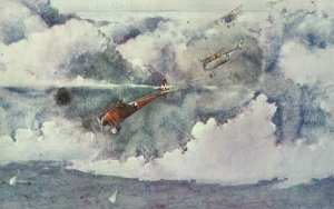 Attack of German Albatros fighters