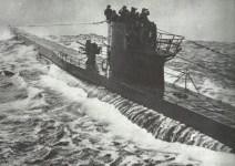 submarine in stormy sea