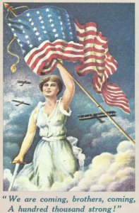 British postcard: America's declaration of war