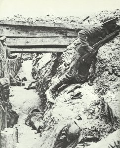 In a British trench
