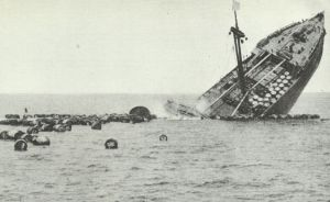 French freighter sinks