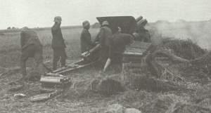 German howitzer bombards