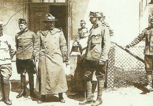 US military observer on a visit of the Austro-Hungarian lines