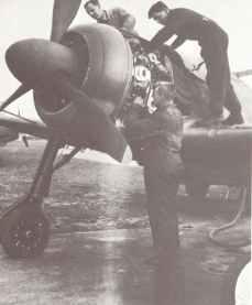 British specialists examine the Focke-Wulf FW 190 A-3