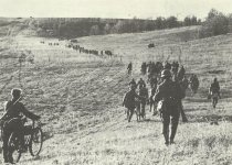 Advance of German infantry through the southern Russian steppes