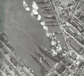 Air strike of German aircraft on a Russian Black Sea port