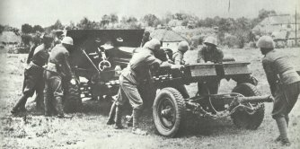 Slovak artillery on the Eastern Front