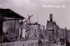 Buildings destroyed in air raids in Kristiansand
