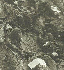 Killed Italian soldiers.