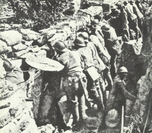 Italian soldiers in the trench