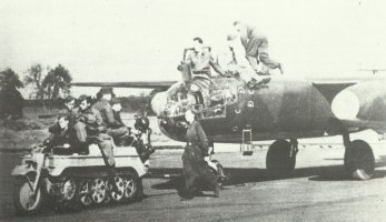 Ar 234B of KG76 towed by Kettenkrad