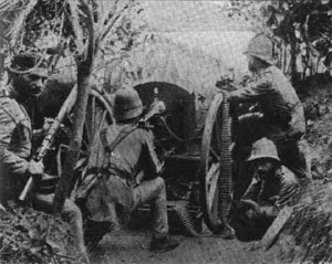 Portuguese machine gun position