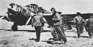 SM.79 Sparvieroready for air raid on Malta