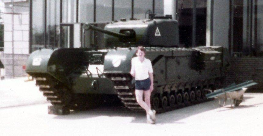 Churchill tank at RAC Tank Museum