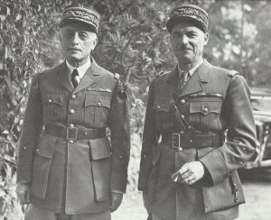 Vichy-French generals Nogues (left) and Juin