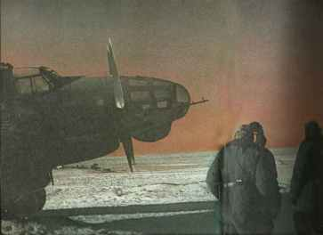 old He 111 bombers at Stalingrad airlift