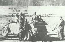 German paratroopers on their way to Medjez-el-Bab in Tunisia
