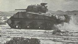 British Sherman tank Tunisia