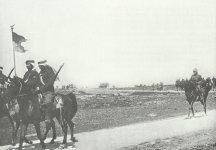 Turkish cavalrymen retreat through Palestine