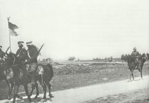 Turkish cavalrymen retreat through Palestine