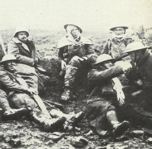Canadian and German 'walking wounded'