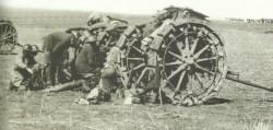 British field artillery in Palestine