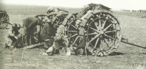 British field artillery in Palestine