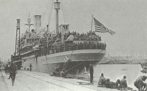 US troopship in France
