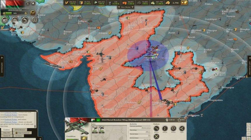 Day 46: Deep enemy (blue) break into India.