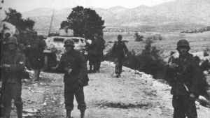 German infantry and APCs  Kasserine Pass